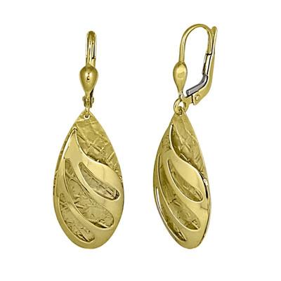 Golden Raindrop Splash Earrings