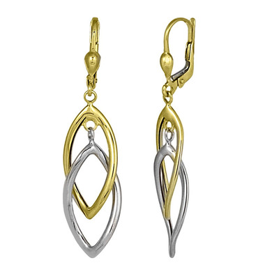 """Two Toned """"Drawn Together"""" Drop Earrings"""