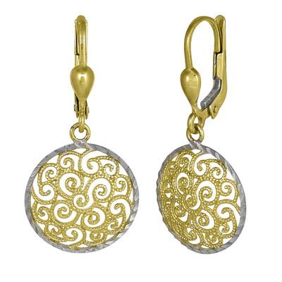 Two Toned Golden Winds Earrings