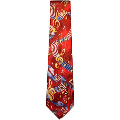 Red G-Clef & Staff Tie - Aim - 42220