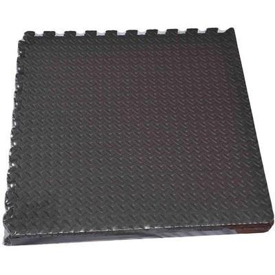 Black Interlocking Foam Tiles - Set of 6