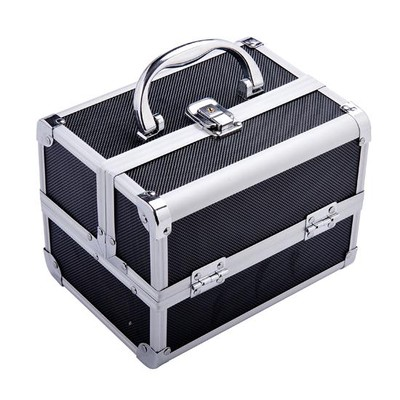 Professional Aluminium Cosmetic Makeup Case Black