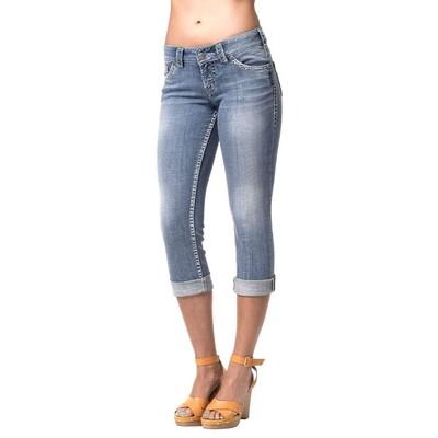 Silver Jeans Suki Bleach Wash Capri