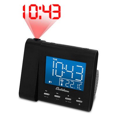 Electrohome Projection Alarm Clock with AM/FM Radio & 3.5mm Audio Input - EAAC601 (061783037591)