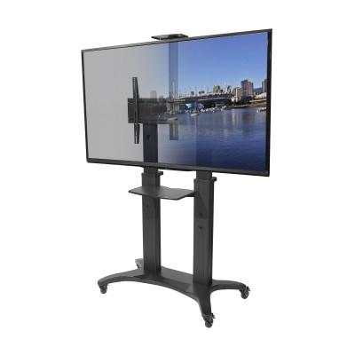 Kanto MTMA80PL Mobile TV Mount with Adjustable Shelf for 55-inch to 80-inch TVs  (800152715193)