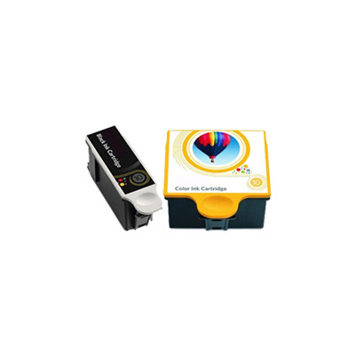 Premium KODAK-Compatible 1215581 / 1810829 #10XL INK / INKJET Cartridge Combo Pack Black Tri-Color