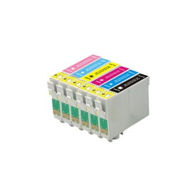 Premium EPSON-Compatible 1400 INK / INKJET Cartridge Set Black Cyan Yellow Magenta Light Cyan Light Magenta