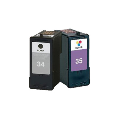 Premium LEXMARK-Compatible 18C0034 / 18C0035 High Yield INK / INKJET Cartridge Combo Black Tri-Color