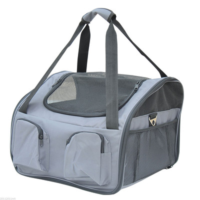3in1 Pet Carrier Car Booster Seat Dog Travel Gray