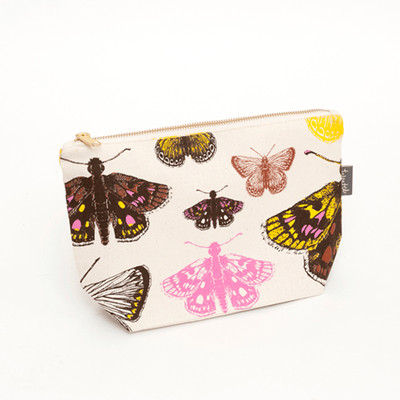 British designer zip purse - Butterflies