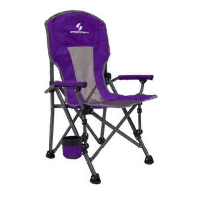 Sportcraft Super Comfort Folding Kids Camping Armchair - Purple