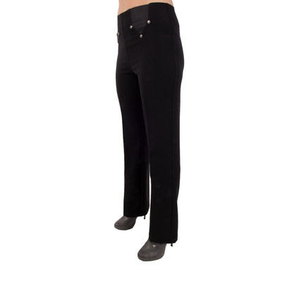 Slimming Pull-Slimming Pull-On Dress Pant with Comfort Waist & Fabric - Black