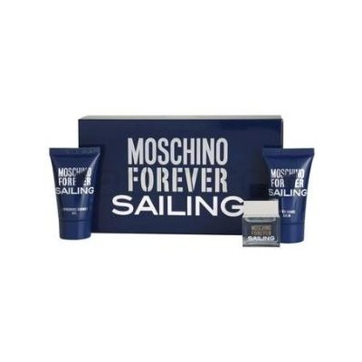 Moschino Forever Sailing mini gift set: 4.5ml Mini + 25ml Shower Gel + 25ml After Shave Balm