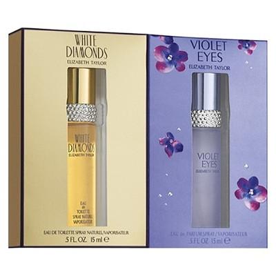 Set For Women - White Diamonds 15ml Eau De Toilette Spray + Violet Eyes 15ml Eau De Toilette Spray (Duo Pack) - by Elizabeth Taylor - 719346152037