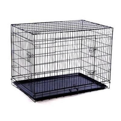 """30"""" 2-Door Folding Dog Crate"""