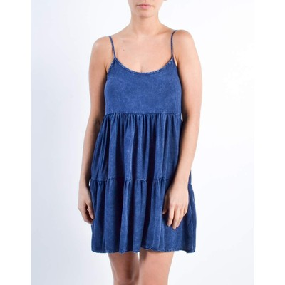 Audrey TIERED INDIGO DRESS