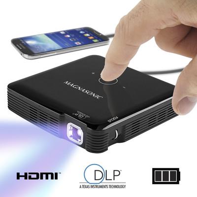 Magnasonic Mini Portable Pico Video Projector, HDMI, Battery, Speakers, 100 Lumens, Movies, Presentations, Smartphones (061783261064)