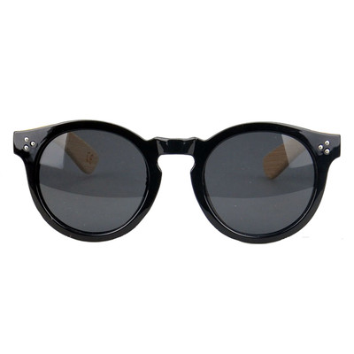 Bamboo sunglasses - Round black