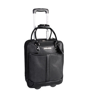 David Jones Black Briefcase on wheels