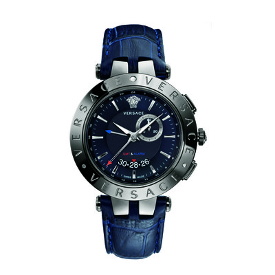 Versace Men's 29G98D282 S282 'V-Race' GMT Alarm Analog Display Quartz Blue Watch