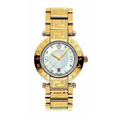 Versace Women's 68Q70D498 S070 'Reve' Gold Plated Mother-Of-Pearl Bracelet Watch