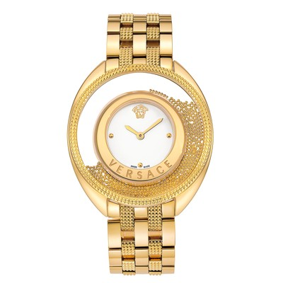 Versace Women's 86Q70D002 S070 'Destiny Spirit' Floating Micro Spheres Gold IP Steel Watch