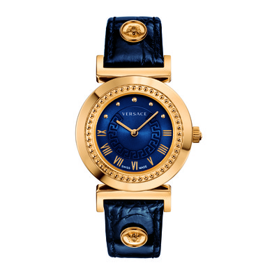 Versace Women's P5Q80D282 S282 'Vanity' Analog Display Swiss Quartz Blue Watch