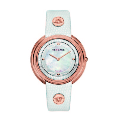 Versace Women's VA703 0013 'Thea' White Calfskin Band Watch
