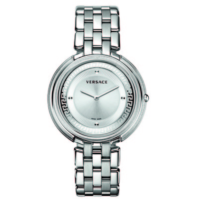 Versace Women's VA706 0013 'Thea' Silver Stainless-Steel Band Watch