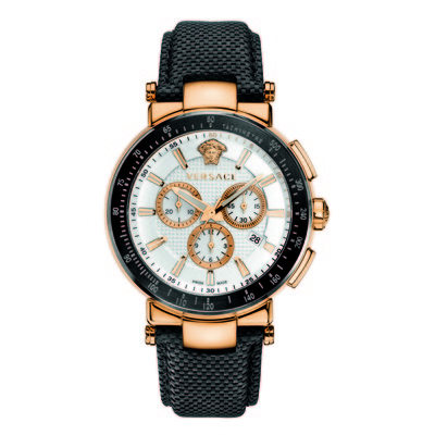 Versace Men's VFG05 0013 'Mystique' Sport 46 Mm Rose Gold Ion-Plated Coated Stainless Steel Chronograph Tachymeter Date Watch