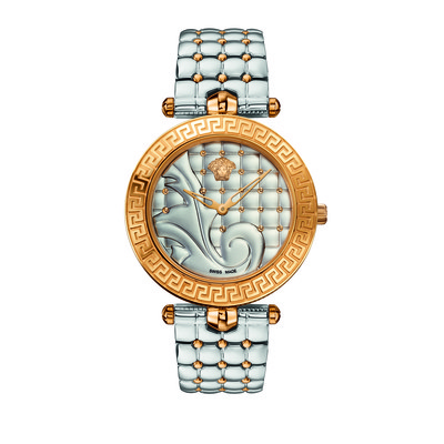 Versace Women's VK723 0015 'Vanitas' Rose Gold Ion-Plated Silver Watch With Interchangeable Leather Band