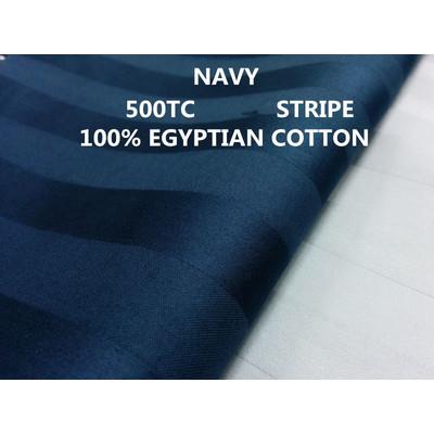 3/4'' INCH STRIPE 500TC Egyptian Cotton Sheet set Navy