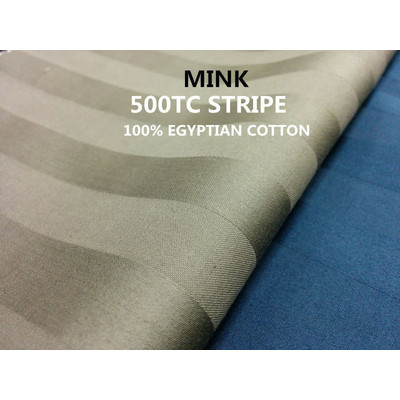 3/4'' INCH STRIPE 500TC Egyptian Cotton Sheet set Mink