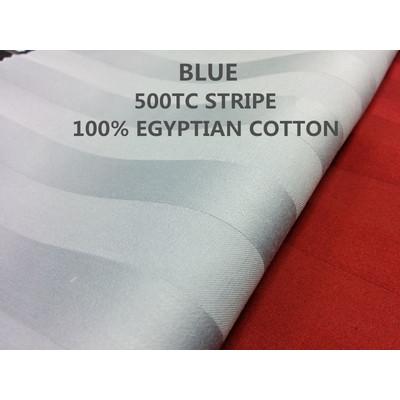 3/4'' INCH STRIPE 500TC Egyptian Cotton Sheet set BLUE colour