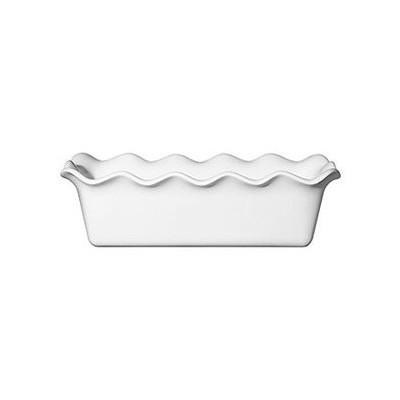 Loaf Baking Dish - Ruffled - White