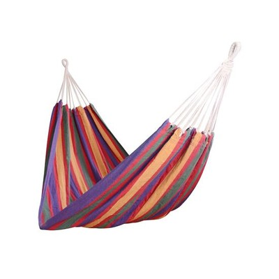 "79"" x 40"" Striped Fabric Hammock Hanging Sleep Bed Multicolour"