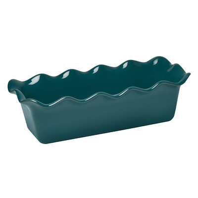 Loaf Baking Dish - Ruffled 4 x 11 - Blue