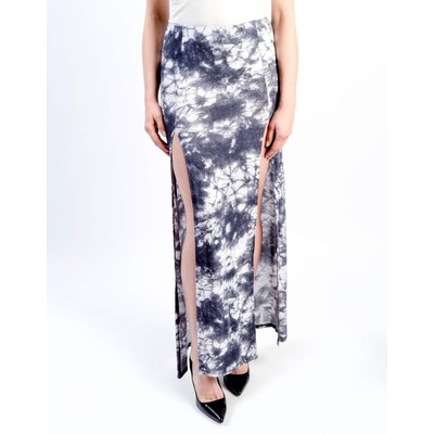 A3 Design TIE DYE MAXI SKIRT WITH SIDE SLITS