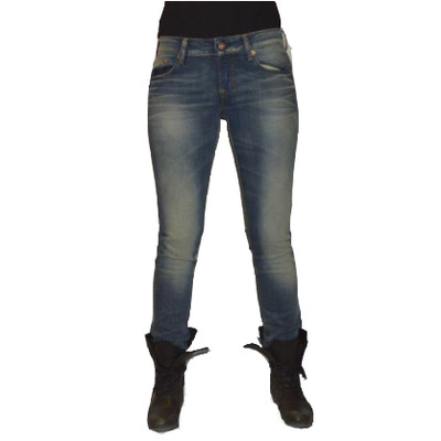 Gsus Designer Women's Jeans - Blue Faded Denim`