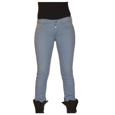 Gsus Designer Women's Jeans - Baby Blue Beewell Finish