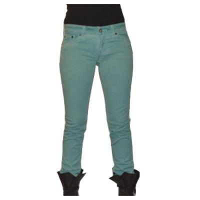 Gsus Designer Women's Jeans - Teal Denim