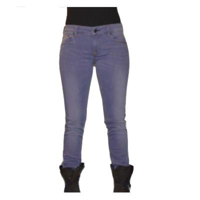 Gsus Designer Women's Jeans - Purple Denim