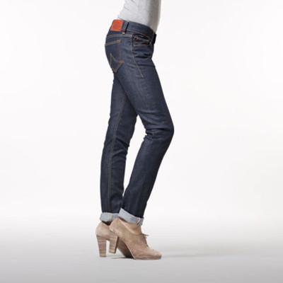 Gsus Designer Women's Jeans - Rosa Aloe Vera Raw Denim