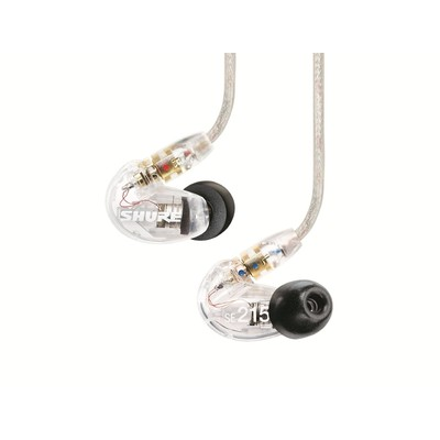 Shure SE-215 Sound Isolating Earphones, Clear.