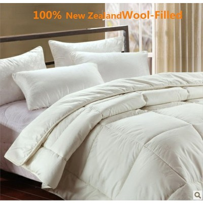 Luxury Machine Washable New Zealand Wool Duvet or Comforter  Queen size