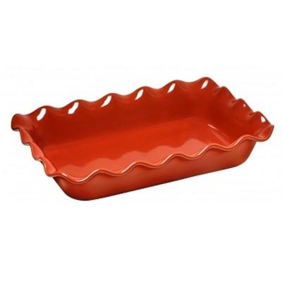 Rectangular Baking Dish - Ruffled - Brick