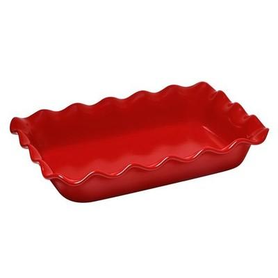Rectangular Baking Dish - Ruffled - Red