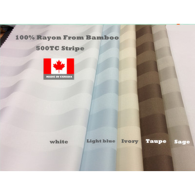 100% BAMBOO 500TC STRIPE SHEET SET MADE IN CANADA