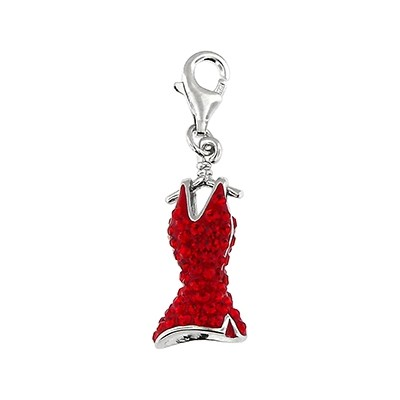 Silver and Crystal Charm - Dress