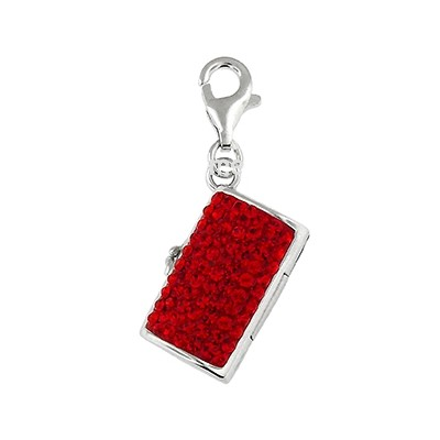 Silver and Crystal Charm - Purse